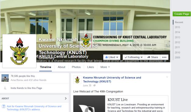 knust facebook page