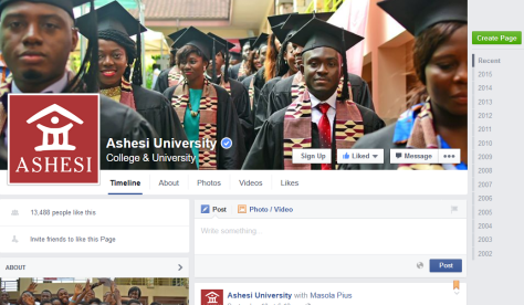 Ashesi facebook page
